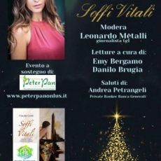 """BOOK CHRISTMAS PARTY"", CLAUDIA CONTE MADRINA DELL'EVENTO NATALIZIO CON LA ONLUS PETER PAN"